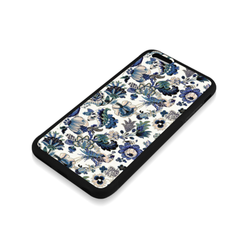 Blue porcelain Rubber Case for iPhone 6/6s Plus