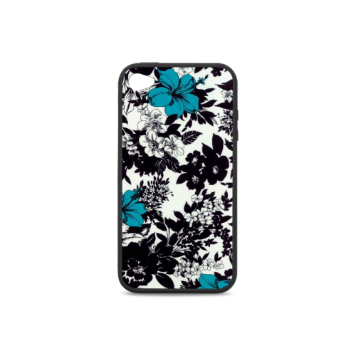 Black and blue design Rubber Case for iPhone 4/4s
