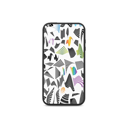 Abstract halftone design Rubber Case for iPhone 4/4s
