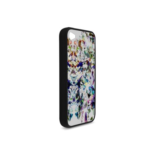 Abstract art Rubber Case for iPhone 4/4s