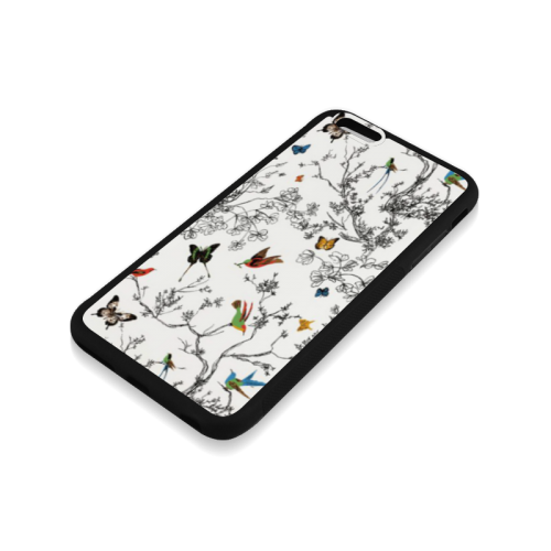 Birds and butterflies Rubber Case for iPhone 6/6s Plus