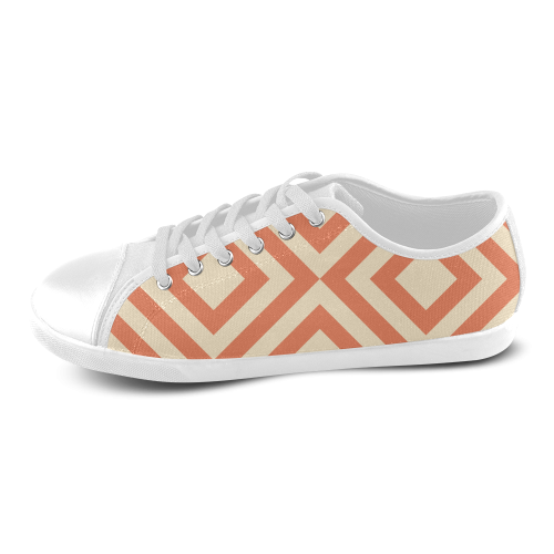 Abstract geometric pattern Women's Canvas Shoes (Model 016)