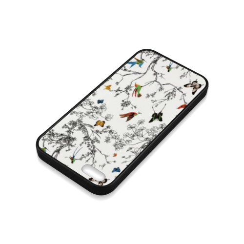 Birds and butterflies Rubber Case for iPhone 5/5s