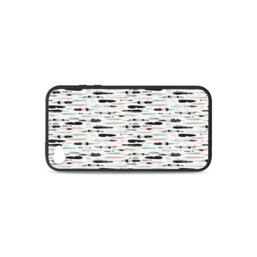Arrow pattern fabric Rubber Case for iPhone 4/4s