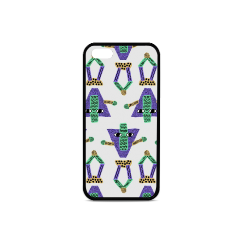Abstract pattern Rubber Case for iPhone 5/5s