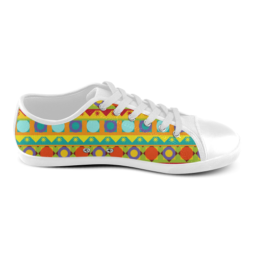 Abstract Women's Canvas Shoes (Model 016)