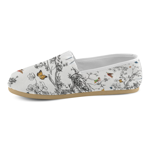 Birds and butterflies Women's Casual Shoes (Model 004)