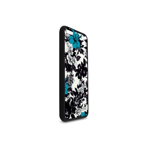 Black and blue design Rubber Case for iPhone 6/6s Plus