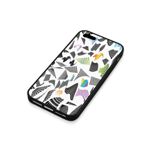 Abstract halftone design Rubber Case for iPhone 5/5s
