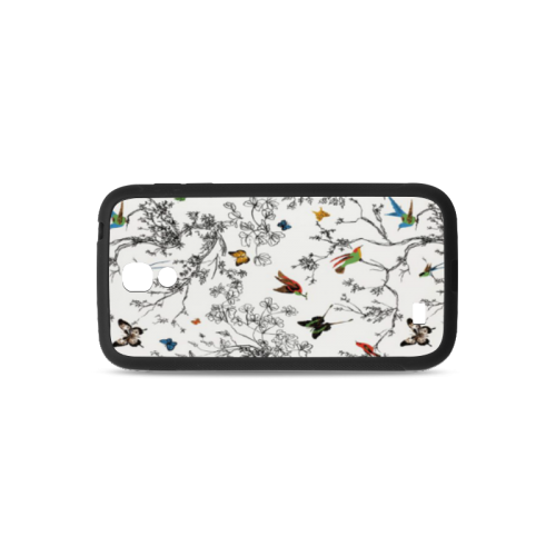 Birds and butterflies Rubber Case for Samsung Galaxy S4