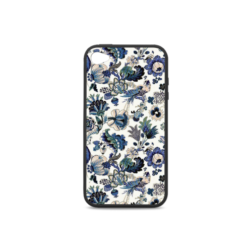 Blue porcelain Rubber Case for iPhone 4/4s