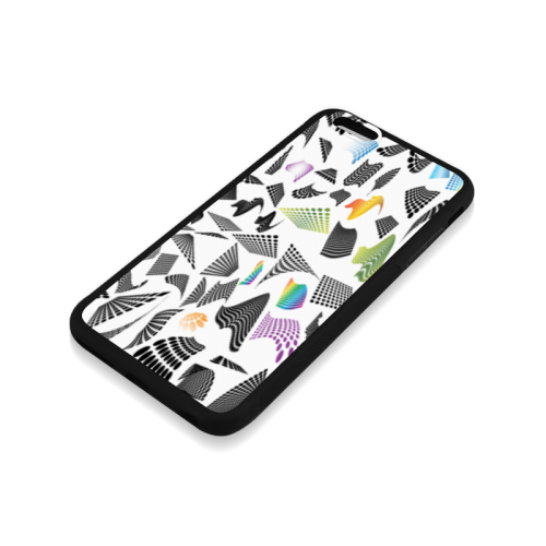 Abstract halftone design Rubber Case for iPhone 6/6s Plus