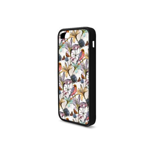 Beautiful flowers Rubber Case for iPhone 5c