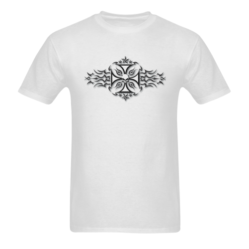 Artsadd Stylish Tribal Tattoo Leo Zulueta Sunny Men's T- shirt (Model T06)