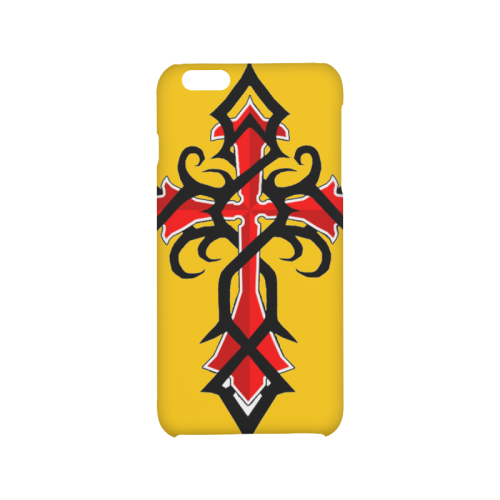 Black And Red Series Tribal Cross Tattoos Hard Case for iPhone 6/6s plus