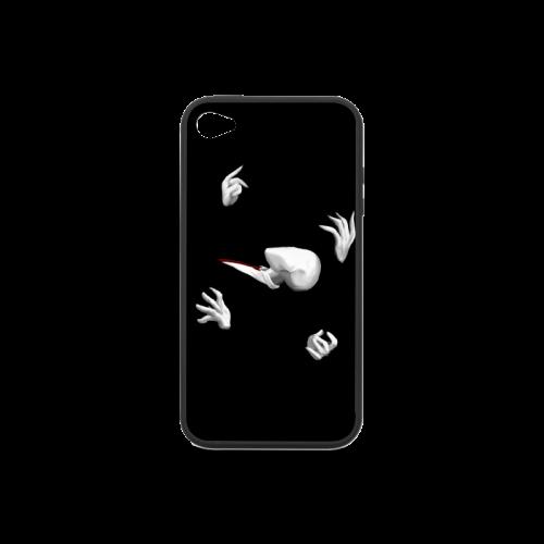 Abbstract Design Las Manos De Slenderman Rubber Case for iPhone 4/4s