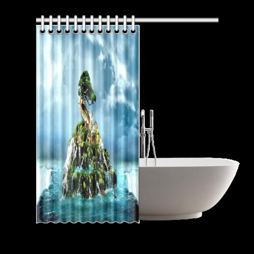 "3D nature Shower Curtain 66""x72"""