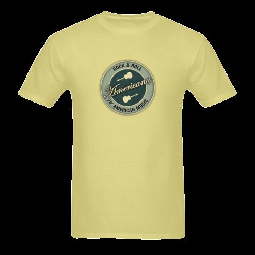 Americana Rock&roll Sunny Men's T- shirt (Model T06)