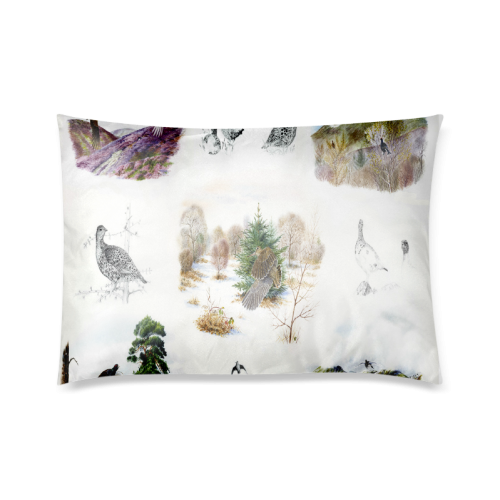 "Birds puzzle Custom Zippered Pillow Cases 20""x30""(Twin Sides)"