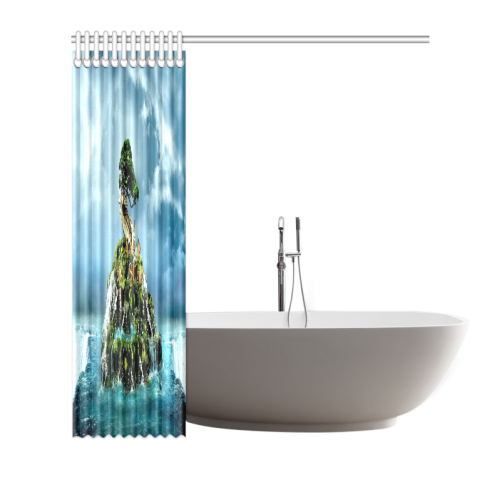 "3D nature Shower Curtain 66""x72"""