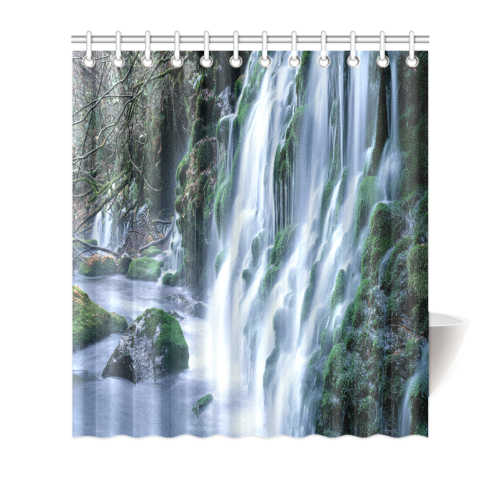 "Rocks on the guts Shower Curtain 66""x72"""
