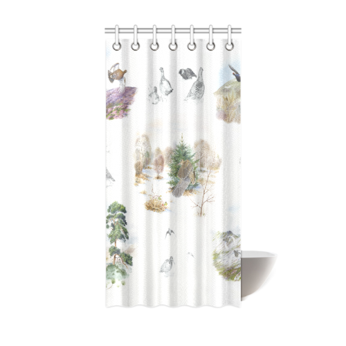 "Birds puzzle Shower Curtain 36""x72"""