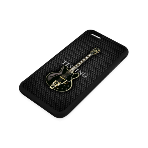 Black gibson-es-345 Rubber Case for iPhone 6/6s Plus