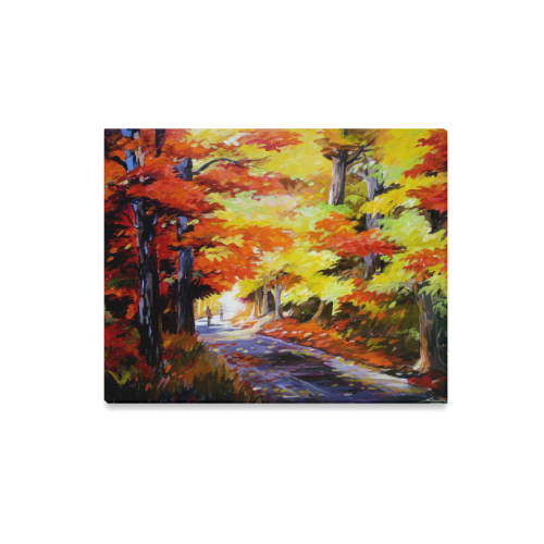 "Beauty of Autumn Forest - Acrylic on canvas Canvas Print 20""x16"""