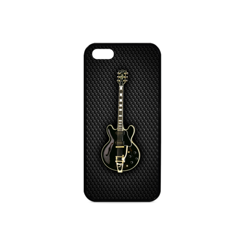 Black gibson-es-345 Rubber Case for iPhone 5/5s