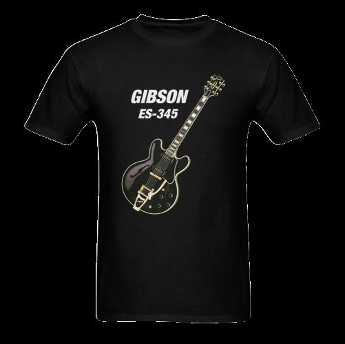 Black gibson-es-345 Sunny Men's T- shirt (Model T06)