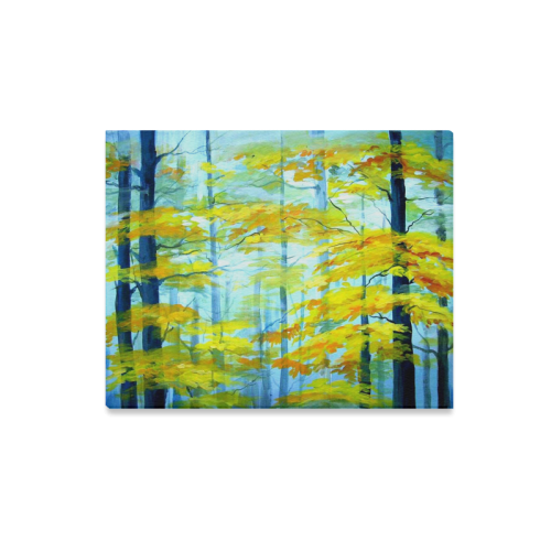 "Beauty of Autumn Forest-Acrylic painting Canvas Print 20""x16"""