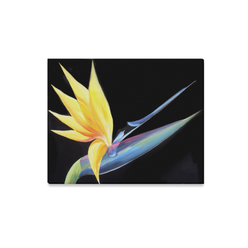"Birds of Paradise - Acrylic on Canvas Painting Canvas Print 20""x16"""