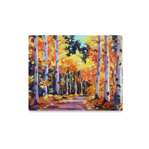 "Beauty of Forest - Acrylic Painting Canvas Print 20""x16"""