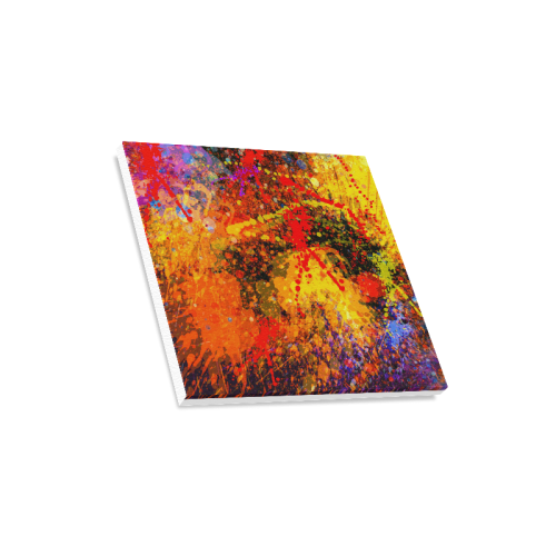 "Abstract Splash Painting on Canvas Canvas Print 16""x16"""