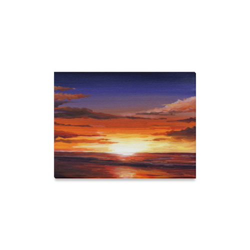 "Beauty of Sunset on Sea Canvas Print 16""x12"""