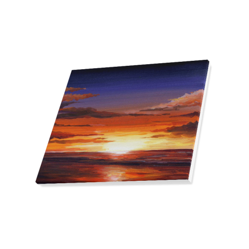 "Beauty of Sunset - Acrylic on canvas painting Canvas Print 20""x16"""