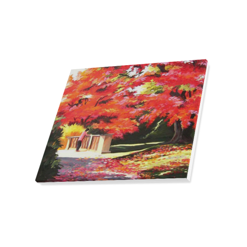 "Beauty of Autumn Garden - Acrylic on Canvas Painting Canvas Print 20""x16"""