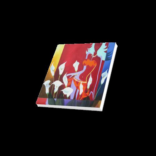 "Flower Lady - Acrylic Painting Canvas Print 12""x12"""