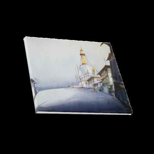 "Buddhist Monetary  - Watercolor painting Canvas Print 20""x16"""