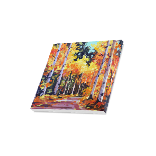 """Beauty of Autumn Forest - Acrylic Painting Canvas Print 16""""x16"""""""