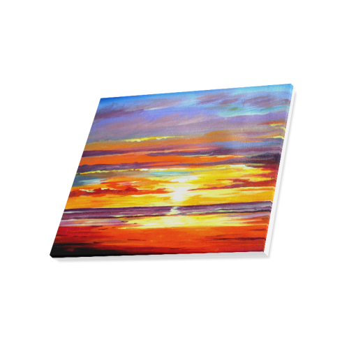 "Beauty of Sunset - Acrylic Painting Canvas Print 20""x16"""