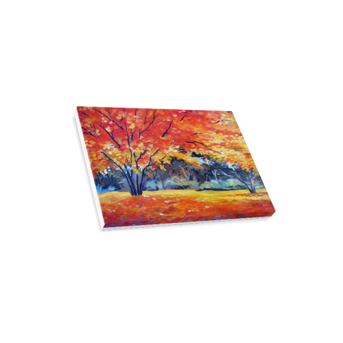 "Beauty of Autumn Forest - Acrylic Painting Canvas Print 16""x12"""