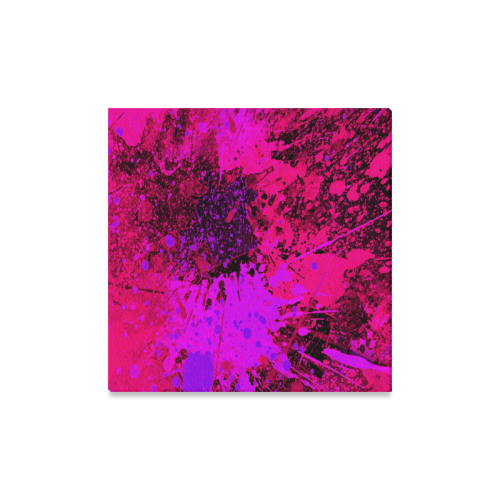 "Abstract Splash painting Canvas Print 16""x16"""