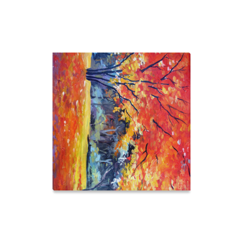 "Beauty of Autumn Forest Canvas Print 16""x16"""