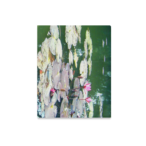"""Beauty of Lilies in pond Canvas Print 20""""x16"""""""