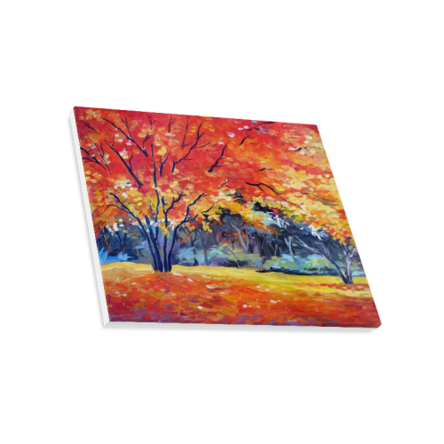 "Beauty of Autumn Forest - Acrylic Painting Canvas Print 20""x16"""