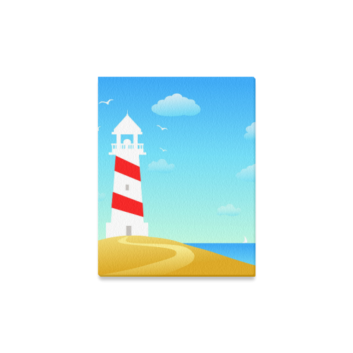 "Lighthouse Canvas Print 11""x14"""