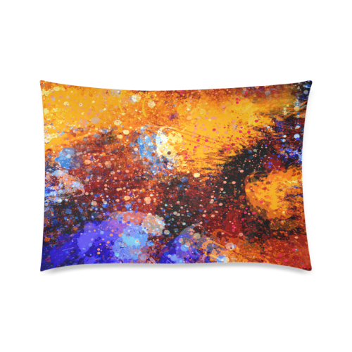 "Abstract Splash Painting on Canvas Custom Zippered Pillow Cases 20""x30""(Twin Sides)"