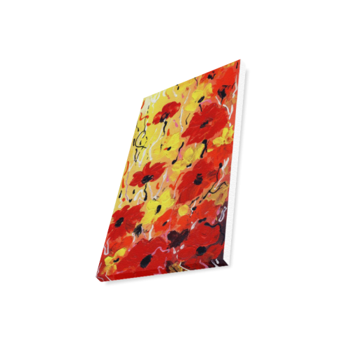 """Abstract Flower Acrylic Painting Canvas Print 12""""x18"""""""