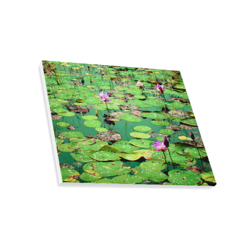 "Beauty of Lilies on pond Canvas Print 20""x16"""